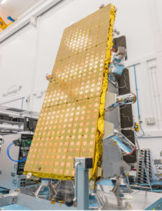 NovaSAR-1 during assembly at SSTL, Guildford