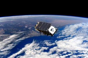 Computer generated image of NovaSAR-1 in orbit
