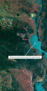 NovaSAR-1 image of the Suez Canal