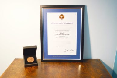SSTL and Airbus Defence and Space NovaSAR-1 team win Royal Aeronautical Society Bronze Medal