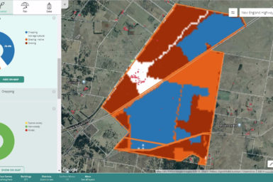 Screenshot from the DAS system. The Rural Intelligence Platform delivers reliable farm data and analytics.
