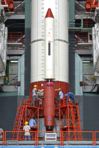 PSLV-C42 Work on roll control thrusters of the first stage in progress
