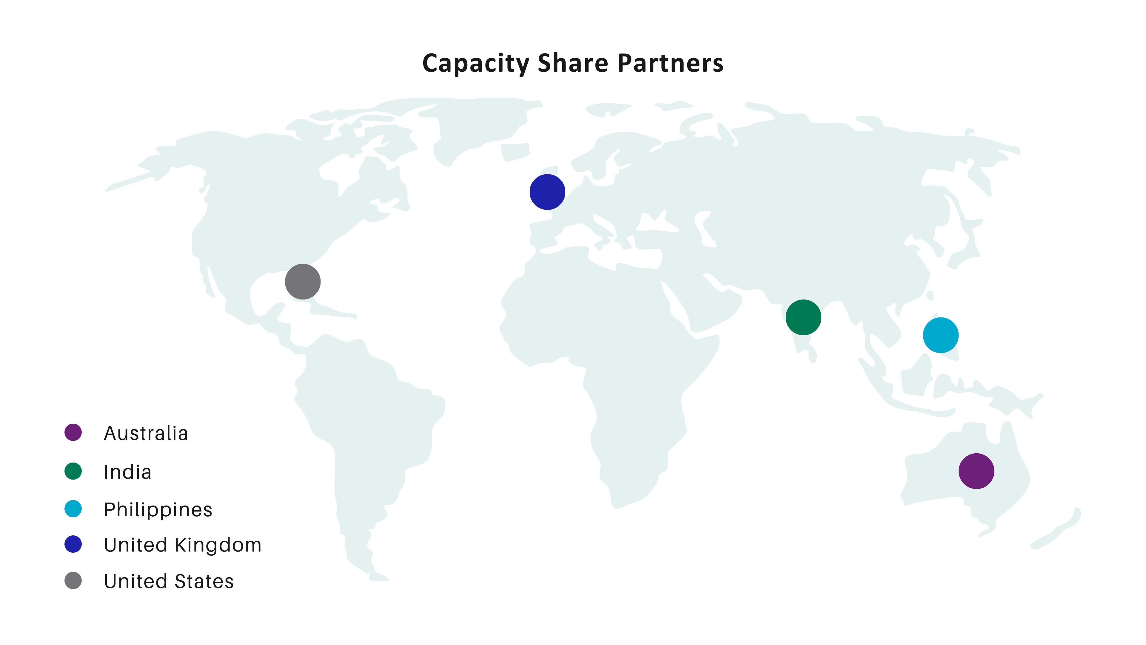 NovaSAR-1 Capacity Share Partners Map