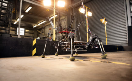 CSIRO's Hexapod learning to walk on a walking track