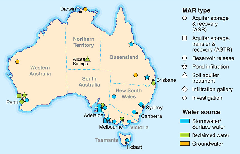 A snapshot of MAR types in Australia in 2015