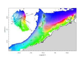 Final seabed characterisation of the west Pilbara region (5-50m): 10 assemblage types were defined based on analyses of new and existing biological survey data with multiple environmental layers. The biplot indicates the principal variables associated with the assemblages.