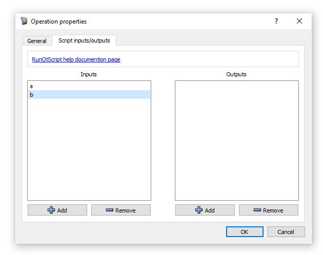 Workspace: Executing a QtScript