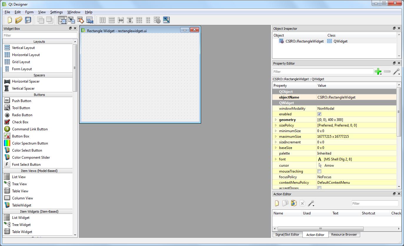 Workspace: Writing a Custom Widget