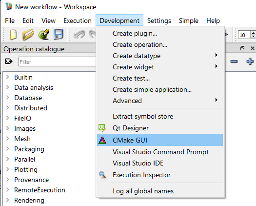 Workspace: Creating a standalone application