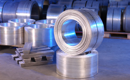 Coiled magnesium sheets and magnesium ingots