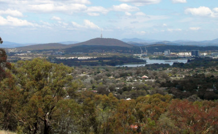 Looking towards Black Mountain in Canberra