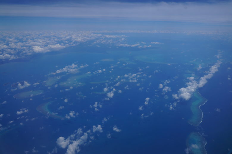 Coral reef from the air
