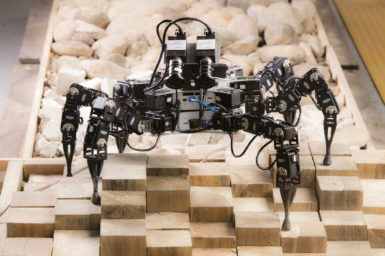 Six Legged Robot on uneven terrain