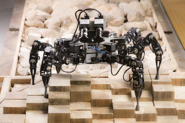 Six Legged Robot on uneven terrain
