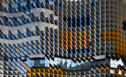 The facade of the RMIT building
