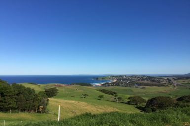 View of Kiama from the hills behind