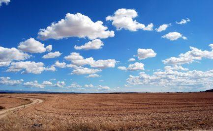 Clouds above a field