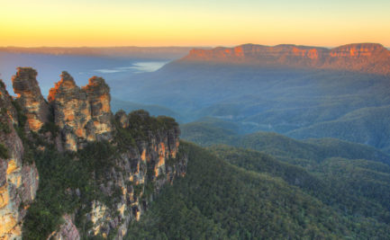 Three Sisters, NSW, Australia at dawn