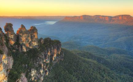 Three Sisters, NSW, Australia at dawn