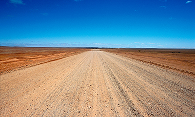 The lonely Strzelecki Track follows the old stockroute from the tiny outback township of Innamincka down to Lyndhurst, SA.