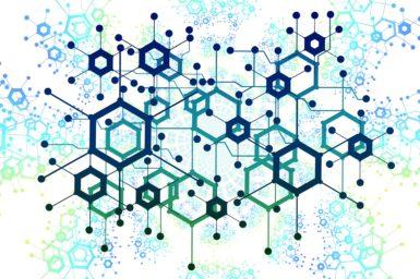Hexagons over swirls