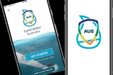EyeOnWater Australia app on phones