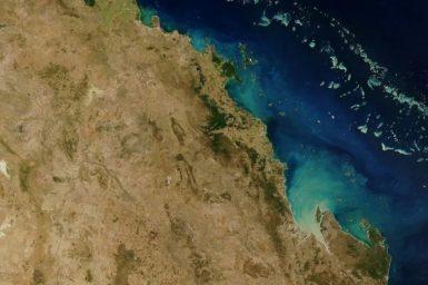 Coastline from low Earth orbit